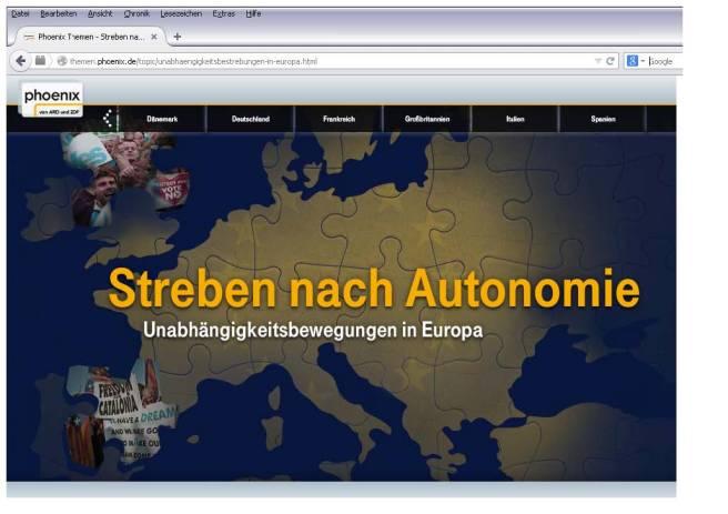Titelseite aus Phoenix.de(ZDF)-20141008-Erklärmodul-AutonomesEuropa