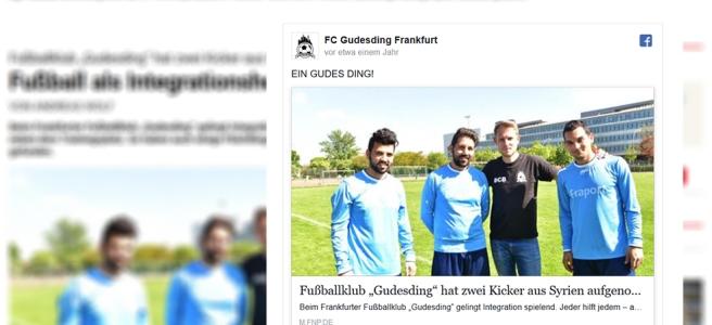 Screenshots FNP.de und Facebook.com/Gudesding, veröffentlicht in der FNP am 30.6.2016