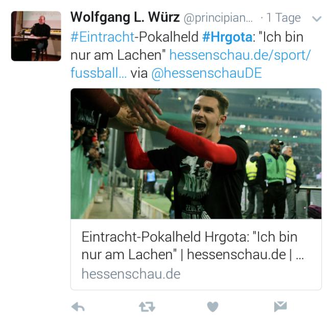 Branimir Hrgota Tweets Eintracht Frankfurt (28) cut