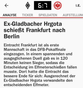 Hrgota Kicker Schlagzeile cut