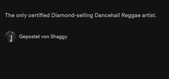 Best band bios in music streaming history: Shaggy
